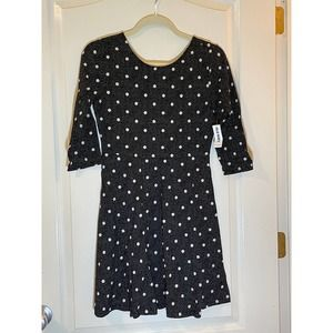 Old Navy Girls Polka Dot LS Dress XL 14 NWT